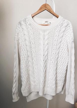 H&m свитер пуловер лёгкий молочного цвета