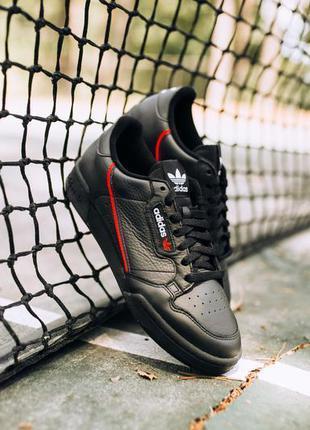 Кроссовки adidas continental 80 (core black/ scarlet/ collegia...