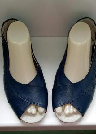 Туфли балетки lifestyle, р. 39. на широкую стопу. кожа
