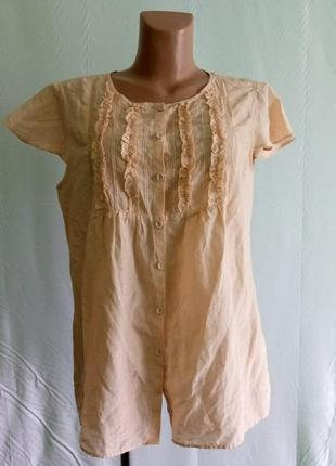 Блуза блузка нежная трендовая бренда gap, р. 46 - 48 . хлопок,...