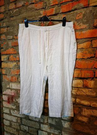Льняные брюки штаны phase eight лен шорты бриджи