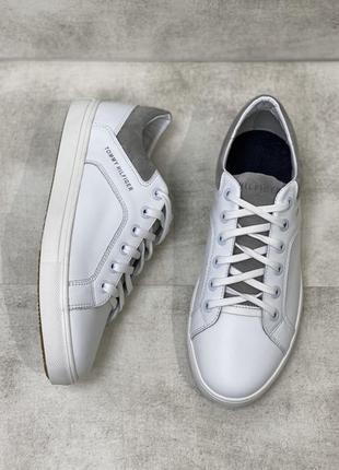 Белые кеды на шнурках натуральная кожа кроссовки есть размеры