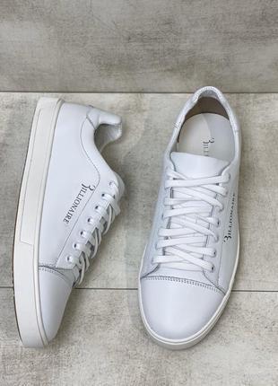Белые кеды натуральная кожа кроссовки есть размеры