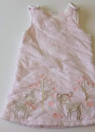 Платье сарафан утепленный tu на 9-12мес.