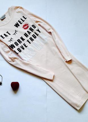 Новая ночная хлопковая  рубашка хлопок, платье для дома