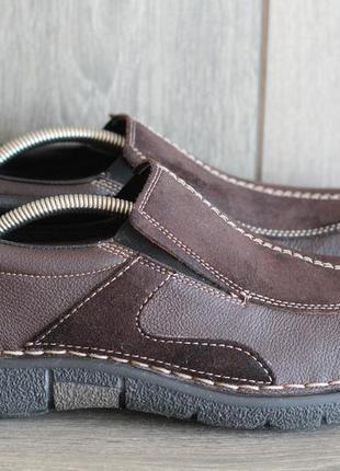 Стильные мужские туфли, мокасины rieker 44-45 нат кожа