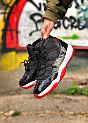 Nike air jordan 11 retro black red white