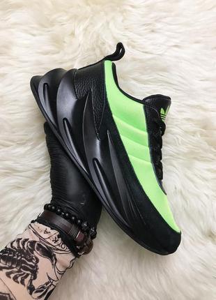 Adidas sharks green black мужские кроссовки
