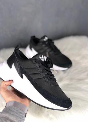Adidas sharks black white мужские кроссовки
