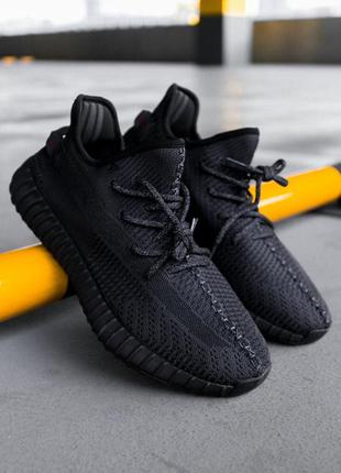 Adidas yeezy boost 350 black женские кроссовки