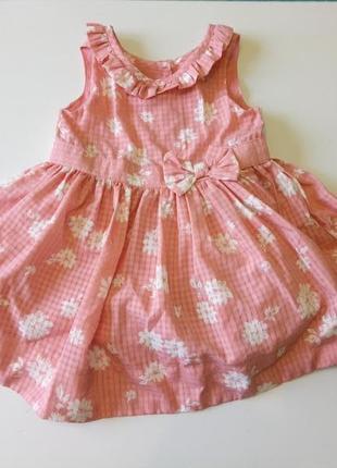 Платье с подъюбником matalan на 3-6мес.