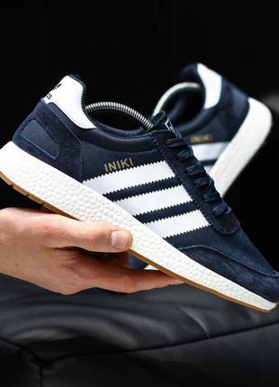 Adidas iniki dark blue white