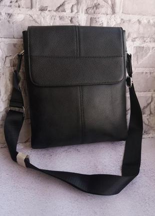 Кожаная мужская сумка чоловіча шкіряна сумочка на плече