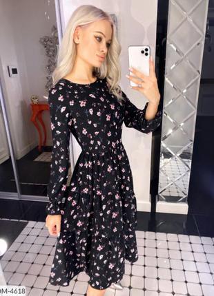 Платье софт принт