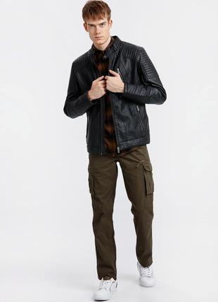Куртка мужская, демисезонная,кожаная, новая турция