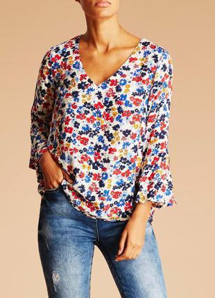 Блузка в цветы falmer вискоза размер 16