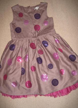 Красивое платье спенсер 2-3г