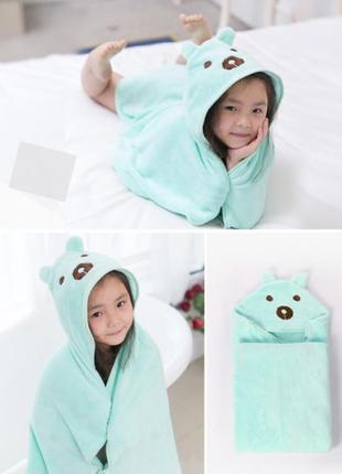 Детское полотенце-уголок микрофибра мишка