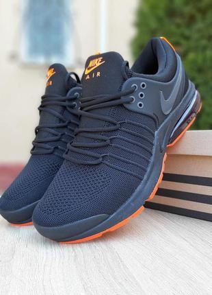Nike air presto 🔺 мужские кроссовки найк еир престо черные с о...