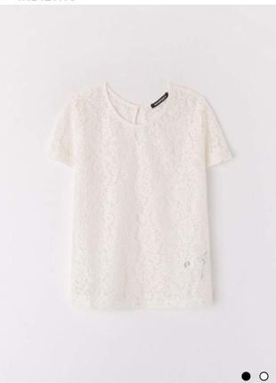 Нарядная кружевная блуза, топ terranova m