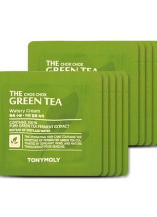Крем легкий с зеленым чаем акция tony moly chok chok green tea...