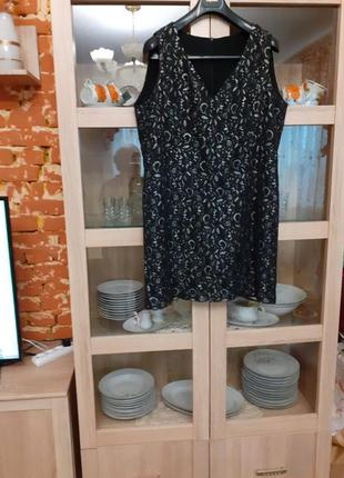 Сверхшикарное кружевное на подкладке платье большого размера