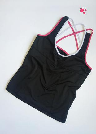 Майка athlete с топом внутри спортивная , одежда для фитнеса