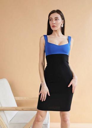 Стильное платье по фигуре ткань стрейч-трикотаж
