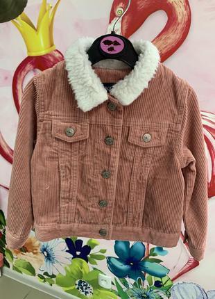 Вельветовая куртка kiabi