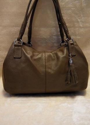 Кожаная брендовая сумка 100% кожа