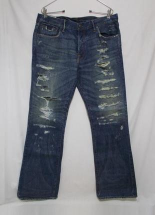 Новые джинсы рваные w36 l32 'abercrombie & fitch' 'baxter'