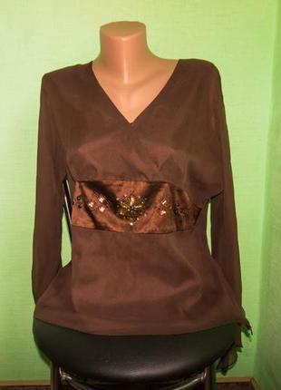 Блуза spencer jeremy, р. 48.  шелк натуральный