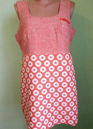 Платье next, р. 48-50.  лен+хлопок