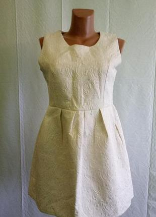 Платье zhizihuakai р. 40-42. жаккардовое