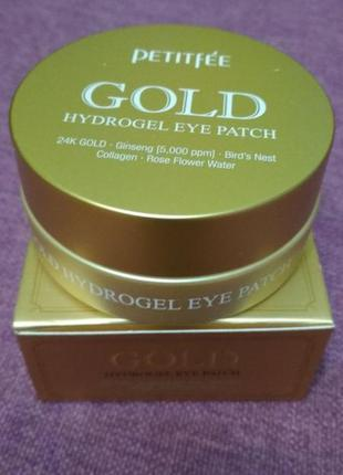 Гидрогелевые патчи для глаз с золотым комплексом +5 [petitfee]...