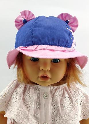 Детская панамка кепка хлопок 44 по 46 и 46 по 48 размер для де...