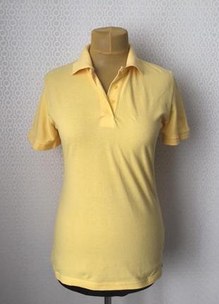 Комфортное поло красивого мягкого желтого цвета размер l от бр...