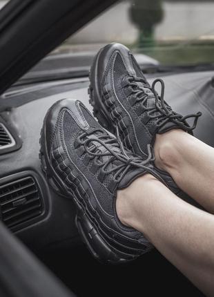 Nike air max 95 🔺 женские кроссовки найк еир макс  черный