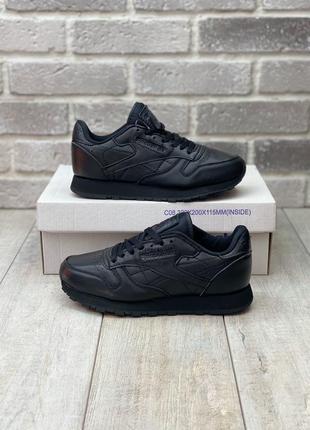 Reebok classic black 🔺 женские кроссовки рибок классик черные
