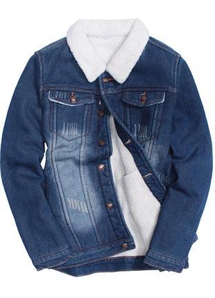 Мужская джинсовая куртка с мехом