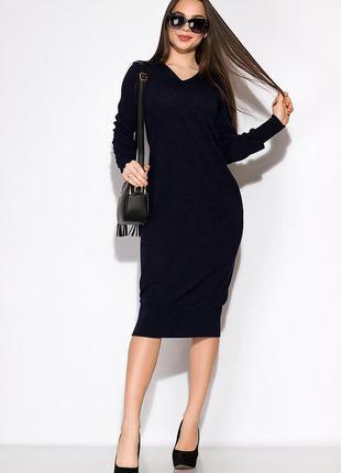 Повседневное платье с v-образным вырезом 120poi19081