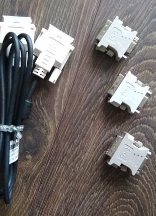 Лот DVI (24+5)(12+5) to VGA и DVI (18+1)Кабель