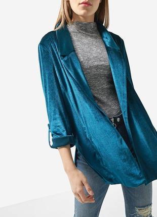 Женский бархатный жакет пиджак накидка