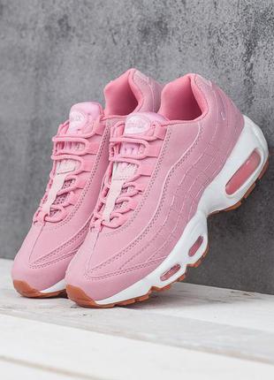 Распродажа nike air max 95 pink white розовые ♦ женские кроссо...
