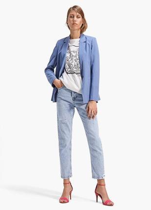 Женский классический полосатый пиджак