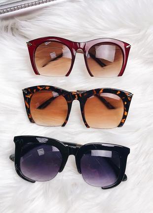 Женские леопардовые солнцезащитные очки