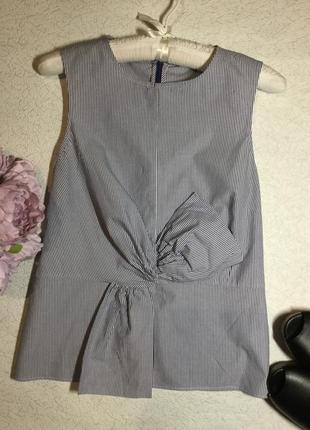 Блузка в полоску с декоративным бантом next размер 6/8