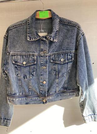 Коротенькая джинсовка джинсовая куртка