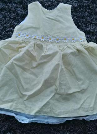Платье сарафан 68 см 3 6 мес 8 кг babble boom х/б