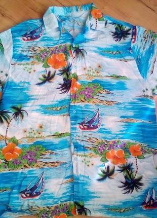 Гавайка,летняя мужская рубашка л-хл